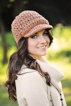 Womens Hat Crochet Hat Newsboy Hat Fall por SimplyMadeByErin