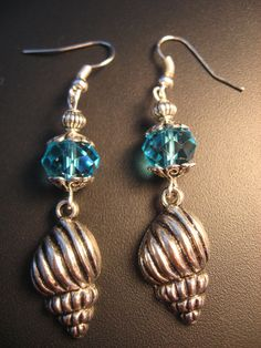Sea Shell Jewelry Earrings  Sea Shell Earrings  by jewelryrow, $12.50 https://www.etsy.com/listing/99165757/sea-shell-jewelry-earrings-sea-shell