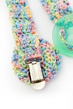 Ravelry: Beginners Pacifier/Binkie Clip pattern by Lauren Whitney - free Ravelry download