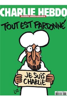 Charlie Hebdo's first issue since the slaying of 12 people at the satirical magazine. [Courtesy Photo]