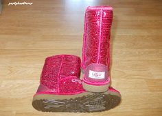 Pink sparkly uggs!