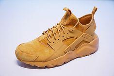 NIKE AIR HUARACHE ULTRA ID CUSTOM DESIGN CAMEL BEIGE 008243227 Nike Air Huarache Ultra, Nike Huarache, Man Bun, Huaraches, Buns, Camel, Custom Design, Sneakers Nike, Beige