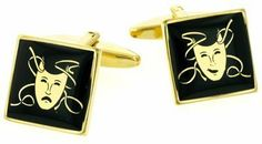 Theater Drama Comedy and Tragedy Mask Cufflinks with Presentation Box Cufflinks House. $45.00. Superb styling. Wonderful gift for the theatre lover. Presentation boxed