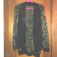Gold and black sweater Gold and black sweater. No buttons. Never worn. Sweaters
