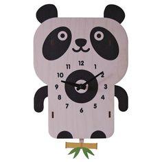 Cute Panda Pendulum Clock