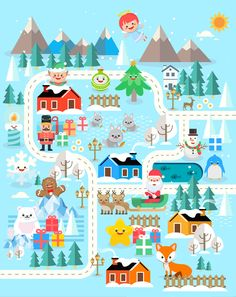 Xmasland christmas characters design collection set. This year we want to do something special by illustrating 16 characters based on the theme of Christmas. Santa Claus, Snowman, Toy soldier, Angel, Gingerbread man, Candle light, Polar bear, Ornament, Sn…