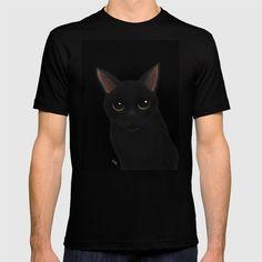 Very black.Very dark. #society6 #cat #猫 #cats #feline #tshirts #clothing #Tシャツ