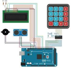 Arduino Alarm System Circuit Schematics