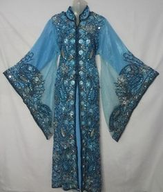 2 LAYER DUBAI ABAYA ,GALABEYA ~ Utterly GORGEOUS Too bad finances are tight, this would have been an amazing purchase