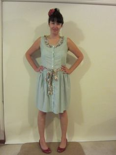 Op shop dress upcycled. Cuuute