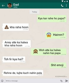 12 WhatsApp Conversations With Indian Parents That Are Hilariously Real Funny Texts Jokes, Latest Funny Jokes, Very Funny Memes, Text Jokes, Funny Jokes In Hindi, Funny School Jokes, Some Funny Jokes, Funny Facts, Hilarious
