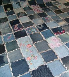 Denim Patchwork Quilt Cover | .K's.