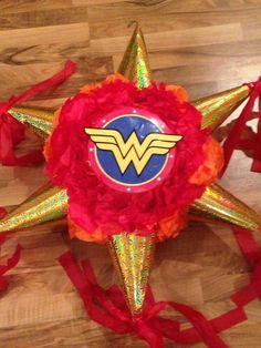Wonder Woman Theme Party - Celebrat : Home of Celebration, Events to Celebrate, Wishes, Gifts ideas and more ! Wonder Woman Birthday, Wonder Woman Party, Birthday Woman, Anniversaire Wonder Woman, Girl Superhero Party, Bday Girl, 6th Birthday Parties, Birthday Ideas, Wonder Women