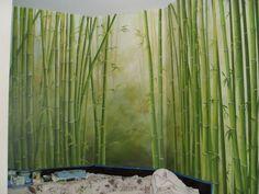 awesome bamboo mural idea
