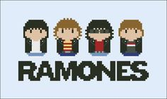 Ramones rock band parody Cross stitch PDF por cloudsfactory