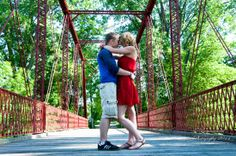 Young Couple Photography session, Bridge, love