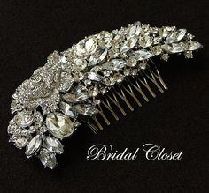 Bridal Comb Rhinestone Comb Bridal Comb Crystal by BridalCloset, $42.00