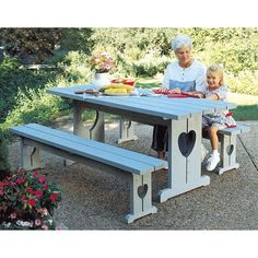 Picnic Table & Benches : Large-format Paper Woodworking Plan from WOOD Magazine Woodworking With Resin, Woodworking Ideas Table, Woodworking Tools For Sale, Woodworking Shows, Woodworking Equipment, Woodworking Patterns, Woodworking Plans, Woodworking Projects, Woodworking Chisels