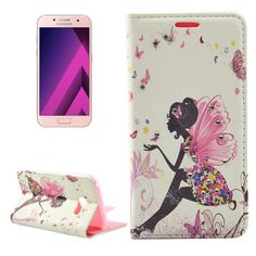 [$2.17] For Samsung Galaxy A5 (2017) / A520 Butterfly and Girl with Wings Pattern Diamond Encrusted Horizontal Flip PU Leather Case with Holder & Card Slots & Wallet