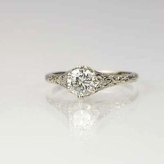 New York, NY Jewelry, engagement rings - Leigh Jay Nacht - Replica Art Nouveau Engagement ring - 3253-05