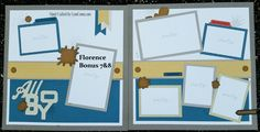 Bonus pages 7&8 for All Boy.  Love the colors and turning over the Kraft Complements for mud splats and nails is a fun idea.  I did stamp some Ink blots to add more depth (slightly) to these cute pages.  Click on the link below for more details.