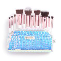 BH Cosmetics Crystal Quartz 12-pc. Makeup Brush Set, Multicolor