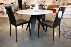 A sleek, modern table from Showroom Modern Table, Showroom, Conference Room, Dining Table, Furniture, Home Decor, Homemade Home Decor, Diner Table, Dinning Table Set