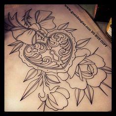 ... Locket Tattoo Tattoo Coverup Keys And Lockets Tattoo Heart Lockets