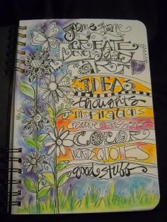I love the idea of a journal like this. Also, I wish my doodling skills were at this level.