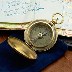 Maritime Audacious Vintage Maritime Nautical Brass Pocket Compass With Anchor Wooden Box Gift