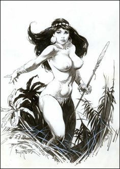 Frank Frazetta Women | Fantasy Ink: Frazetta Girls