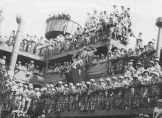Desembarque do 3º Escalão da Força Expedicionária Brasileira, voltando dos combates durante a Segunda Guerra   http://memoria.oglobo.globo.com/fotos/histoacuteria-do-brasil-9580259