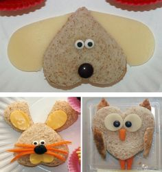 How cute is that?! You can make the little bear shaped sandwich for your little kid!