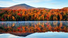 Fall Foliage Map, Killington Vermont, New England Fall Foliage, Best Seasons, Green Mountain, Train Rides, Places To See, Beautiful Places, Travel