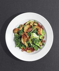 Red Rice Stir-Fry With Mushrooms and Greens