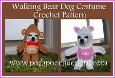 Posh Pooch Designs Dog Clothes: Walking Bear Dog Costume Crochet Pattern By Posh Pooch Designs