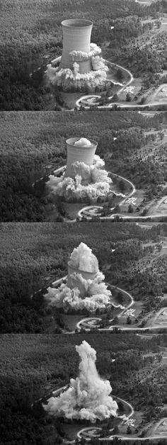 Nuclear plant demolition.