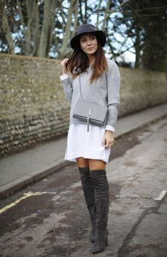 Grey is my favourite colour for the season! Wearing Asos and Saint Laurent