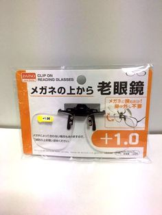 DAISO JAPAN Optical Clip-on Flip-up Magnifying Reading Glasses +1.00 F/S #Daiso