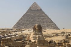 Sphinx and Pyramid - Giza, Egypt - Photo