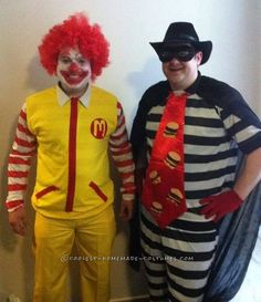Ronald and the Hamburglar Couple Costume... Coolest Halloween Costume Contest