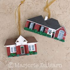 Home Sweet Home CUSTOM Polymer Clay House Ornament   Flickr - Photo Sharing!