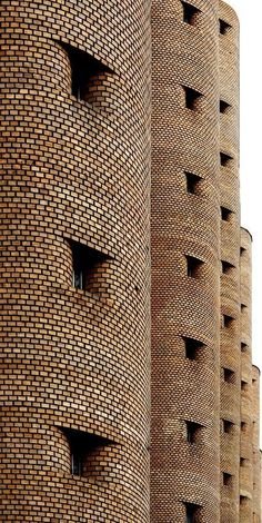 Cold, dark, visually repetitive :-( Бастилия by Lev Shevchenko on Brick Architecture, Organic Architecture, Residential Architecture, Contemporary Architecture, Architecture Details, Architecture Facts, Brick In The Wall, Brick And Stone, Brick Wall