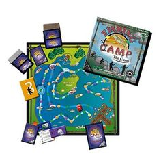 Fishing Camping Board Game-Kids and Adults Educational Fun Facts