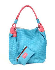 Brand : thayla Type : Shoulder Bags Color : blue with Pink Closure : Zip SKU Code :211(W) blue with Pink Handle/Strap : Two Compartment : Two Material : Leather Dimension (LxW) cm : 40X42 Description :A Beautiful leather weaving jhola for Shopping Having One inside coin wallet with zip  Disclaimer : Product colour may slightly vary due to photographic lighting sources or your monitor settings