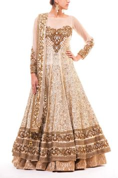 Bridal floor-length anarkali. Indian fashion.  (For my bridesmaids)