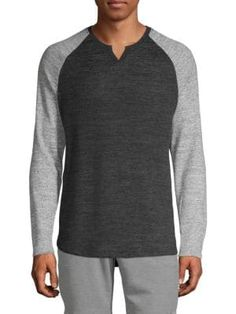 Civil Society Raglan-sleeve Colorblock Top In Charcoal Civil Society, Civilization, Color Blocking, Charcoal, Men Sweater, Mens Fashion, Pullover, Sleeves, Sweaters