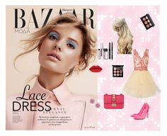 """#lacedress"" by jasmina-hrnjicic ❤ liked on Polyvore featuring mode, Notte by Marchesa, Christian Louboutin, MAC Cosmetics, Bobbi Brown Cosmetics, Valentino, Kobelli et lacedress"