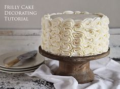 The Frilly Cake: Full Decorating Tutorial from iambaker.net
