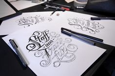 Hand Lettering III On Typography Served
